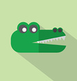 Modern Flat Design Crocodile Icon vector image