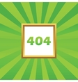 404 picture icon vector image