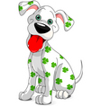 St Patrick's day dog vector image