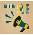 Megaphone sign isolated on old paper background vector image vector image