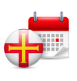 Icon of national day in guernsey vector image