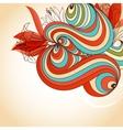 floral background decorative corner vector image