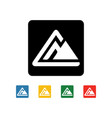mountain icon symbol vector image