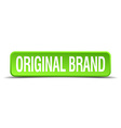 original brand green 3d realistic square isolated vector image