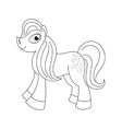Pony with a magnificent mane and tail coloring vector image