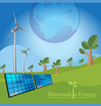renewable energy concept vector image