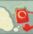 Retro old telephone vector image