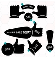 Super Sale paper banner Sale background Big sale vector image
