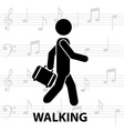walking man silhouette vector image