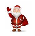 Santa with a bag behind the back vector image