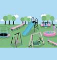 children playground different children s outdoor vector image