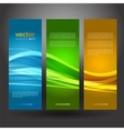 Collection banners modern wave design vector image vector image