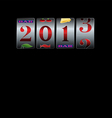 2013 New Year Slot Background vector image