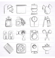 Bathroom and Personal Care icons vector image