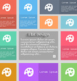 Palette icon sign Set of multicolored buttons vector image