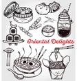 Oriental foods set vector image