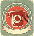 Retro telephone symbol vector image vector image