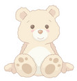 cartoon vintage cute teddy bear sitting vector image
