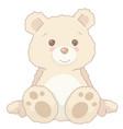 cartoon vintage cute teddy bear sitting vector image