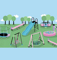 children playground different children s outdoor vector image