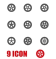 grey wheel icon set vector image