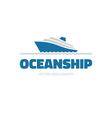 OceanShip - logo concept vector image