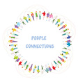 People communication background - frame vector image