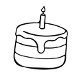 Pie sketch style cake doodle vector image
