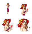 pop art avatar of pin up sexy girl with vector image