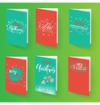 Set of christmas brochures templates vector image