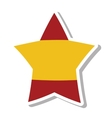 spain flag isolated icon vector image