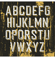 Vintage retro typeface on wooden texture with vector image