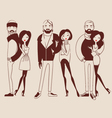 fashion people man and woman vector image vector image