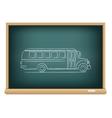 board school bus side view vector image vector image