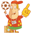 tourist soccer vector image