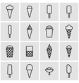 line ice cream icon set vector image