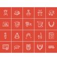 Education sketch icon set vector image