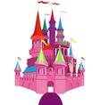 Fairy-tale Pink Castle vector image