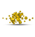 flying yellow dices vector image