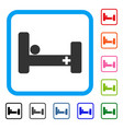 hospital bed framed icon vector image
