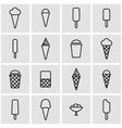 line ice cream icon set vector image