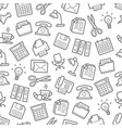 seamless pattern of office work supplies vector image