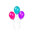 shiny balloon birthday party decoration element vector image
