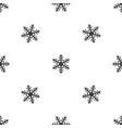 snowflake pattern seamless black vector image