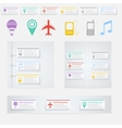 Timeline Infographic with diagrams and text vector image