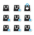 Shopping bag icons set vector image vector image