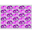 pink elephants vector image