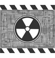 nuclear background vector image