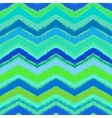 Hand drawn zigzag pattern in aqua blue vector image vector image