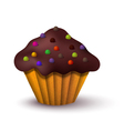 Realistic of cake vector image vector image